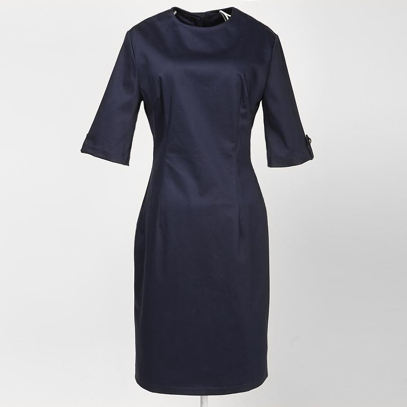 619211627 Damas retro vintage boutique de diseño de moda azul marino vestidos de  noche con mangas