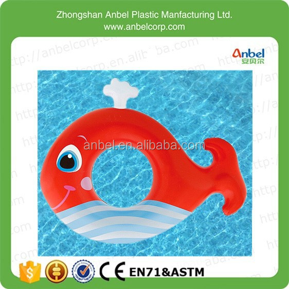 Anbel Lovely Cartoon Fish Swimming Lap Inflatable Pool Floating Ring for Kid,3 - 6 years age