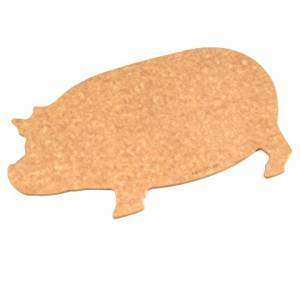 Epicurean New T-Line Pig-Shaped Reversible Cutting Board and Serving Tray, Dishwasher Safe, Non-Porous, NSF Approved, Natural Color (14.5 x 9 Inches)