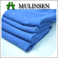 Mulinsen Textile Plain Dyed Weft Knitting Polyester Spandex Micro Suede Fabric for Garment