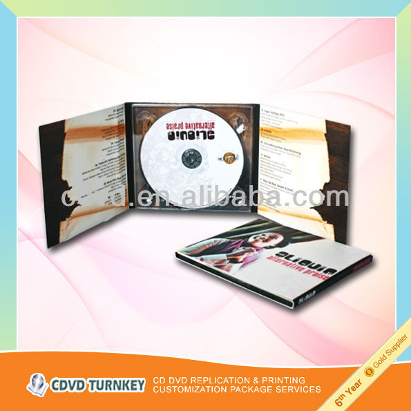 Low price simple cd/dvd digipak sell package, made in china
