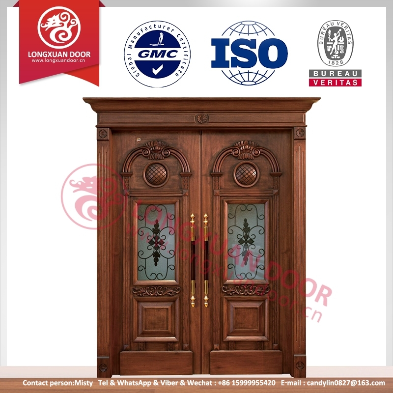 Wooden single double main door design teak wood main for Wooden main door design