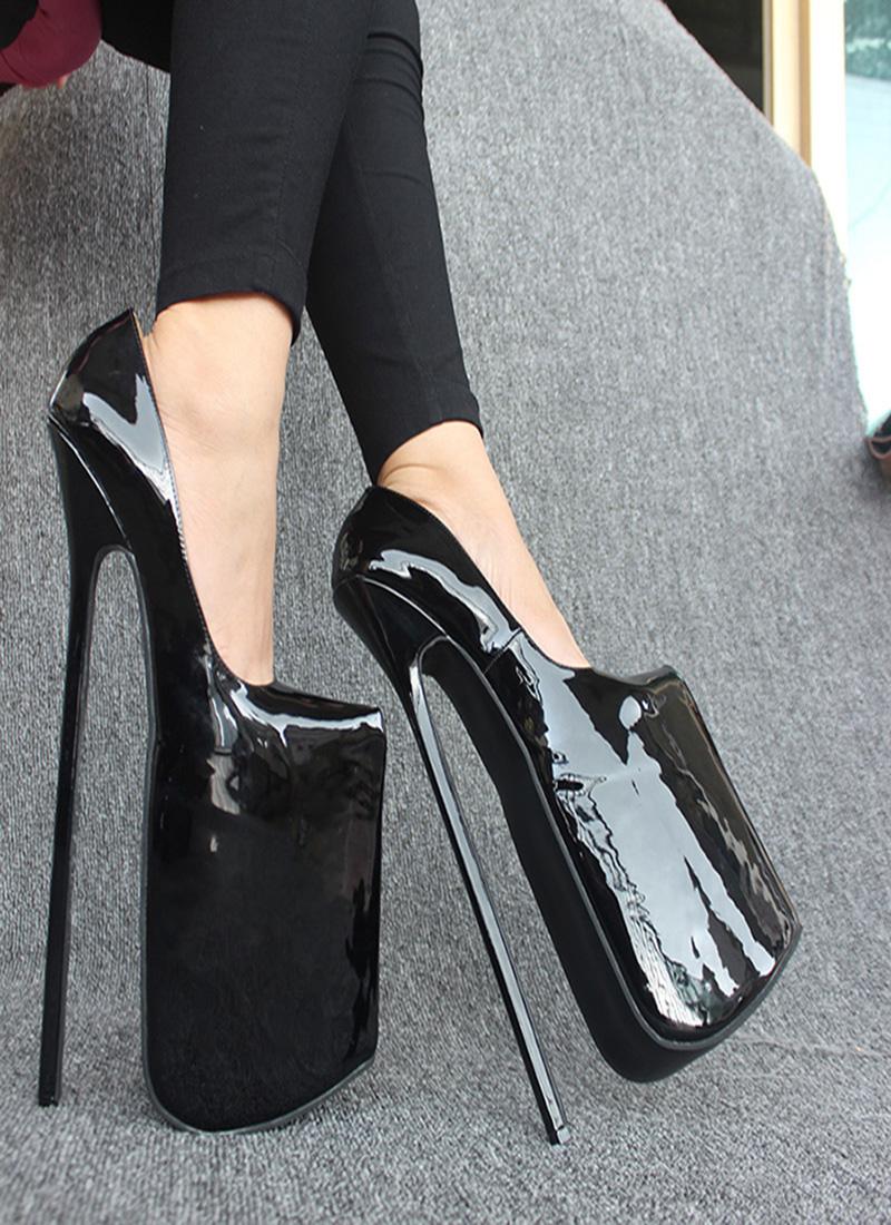 de9384213d8 Extremely High Platform Heels. Wonderheel New Full grain leather pump ...