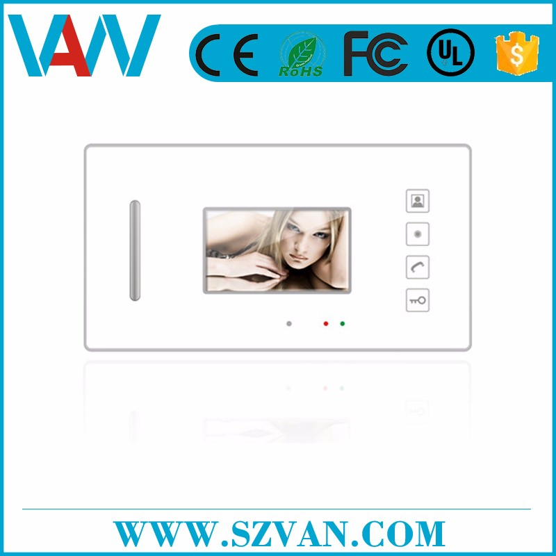 Top 3 factory!Factory directly sell 4 wires color video door phone system hot in Europe