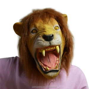Mask Lion Head Costume Carnivorous Animals Cheap Latex Halloween Mask