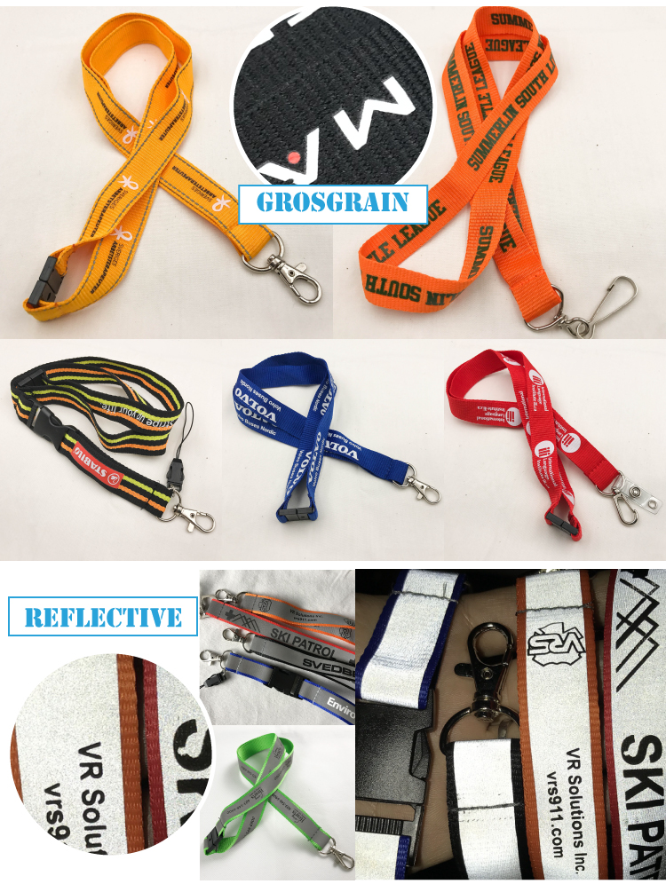 custom design fashion  printed jacquard lanyards with logo attached accessories
