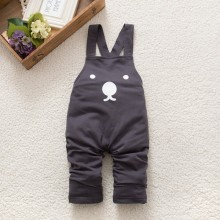 New fashion Baby Boy Girls Bib Pants Overalls Bear Print Harem Pants Long Trousers 0-3Y Free Shipping