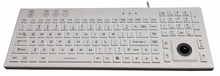 106 keys Silicone keyboard with trackball and backlit waterproof and washable JH-IKB800BL