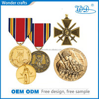 wholesale custom high quality engrave aluminum alloy british german war medals ww2 army defence campaign medals for sale ww2
