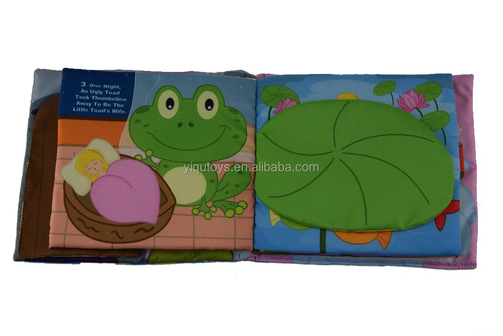 Thumbelina Hot Selling Kids Educational Baby Cloth Book Baby ...