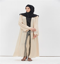 Muslim maxi dress front open abaya dubai abaya kaftan arab islamic clothing