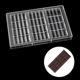 1 Piece DIY Polycarbonate Chocolate Mould Jelly cake decoration Pastry Baking Dish Hard PC sweet Candies chocolate Bar molds