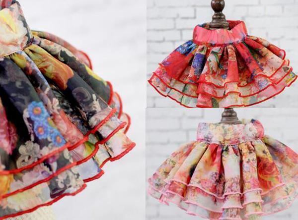 Новый стиль кота собаки любимчика мода цветочный принцесса юбки костюм собачка прекрасная принцесса платья одежда щенок свадьба юбки 10 шт.
