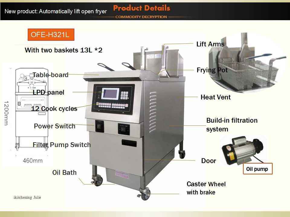 High Quality Electric Deep Fryer Commercial Oil Free Deep