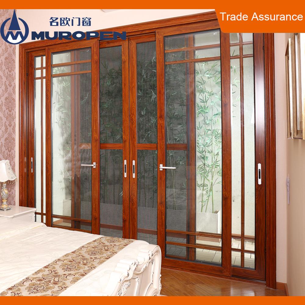 Bali Mdf Plywood Sliding Wood Door Aluminum Sliding Door Wood Door