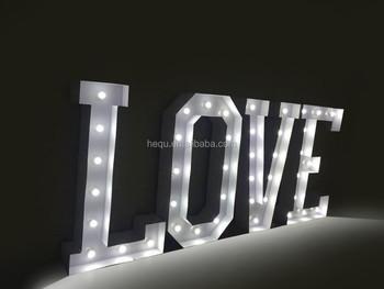 Marquee Letters Verlichting : Metalen bruiloft tent verlichting brieven vintage buy bruiloft