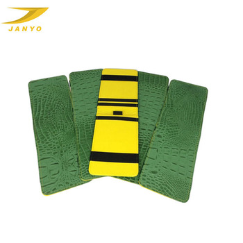 Green Croco leather, golf score card holder
