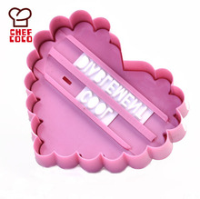 Plastic custom heart shape cookie stamp cutter