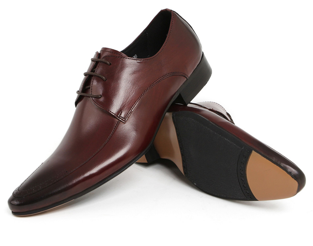 Get Quotations 2015 Oxford Shoes Brown Black Mens Business Dress Genuine Leather Pointed Toe Wedding