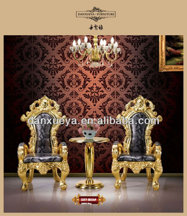 Elegant Antique Gold King Throne Chair For Sale B03#