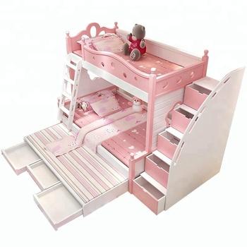Lit Superpose 3 Lits Avec Escalier Armoire Pas Cher Enfants Meubles Rose A18 Buy Lits Superposes Pour Enfants Avec Escaliers Lit Superpose Avec