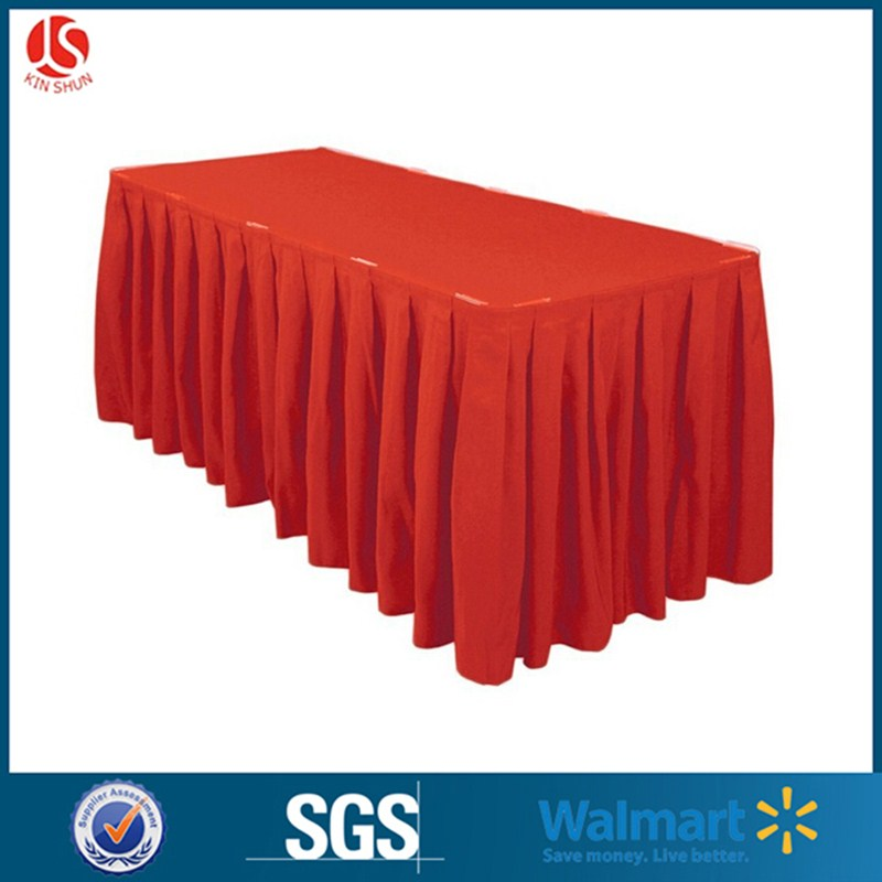 Wholesale price rectangle table skirt for event nice looking high quality