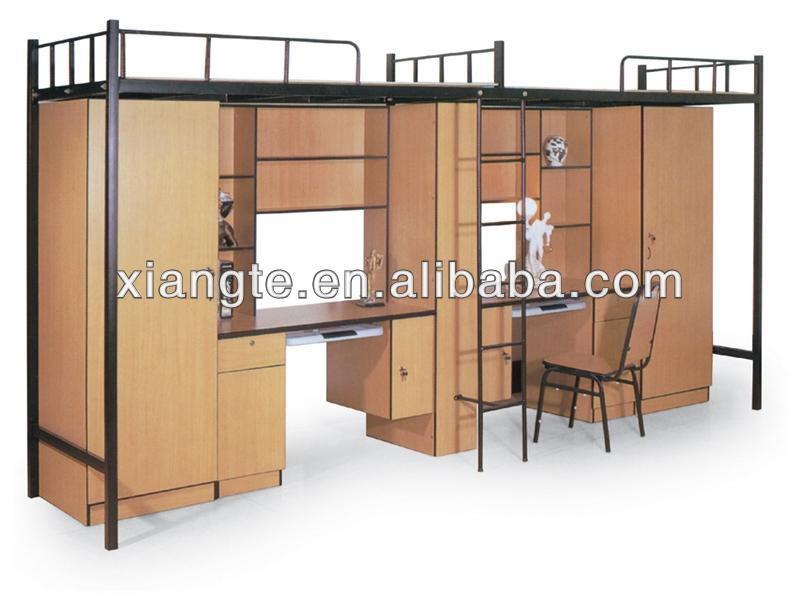 moderno doble ms del doble de dormitorio camas literas litera triple cama con escritorio buy product on alibabacom