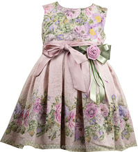 Bow Dream Flower Girl Wedding Fomal Party Princess Kids Dress