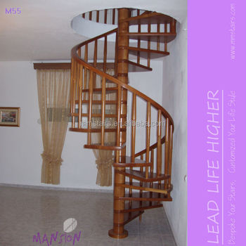 Wooden Oak Used Spiral Staircase