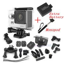 Original EKEN H9 Wifi Ultra HD 4K Video Wide Angle Sports 1080p/60fps Gopro Hero 4 Style action camera Two Batteries + Monopod