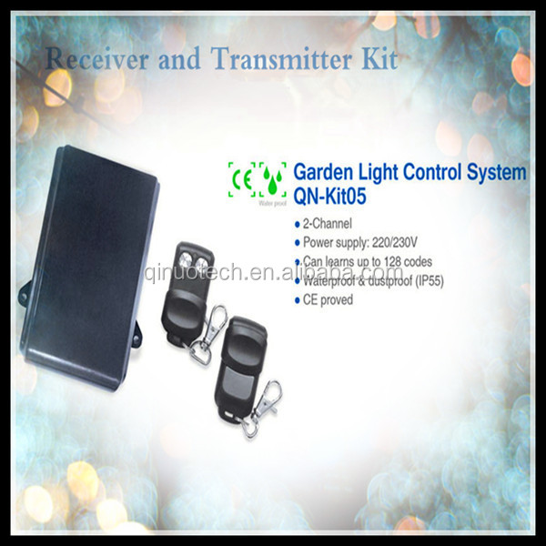 rf receiver and transmitter for garden light control system with CE approved, waterproof and dustproof function