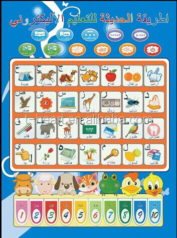 Arabic Phonic Wall Hanging Chart For Kids Learning Alphabet