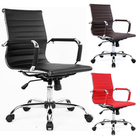 Low back black executive office chair for meeting room