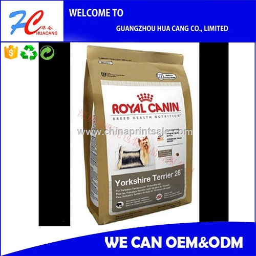 Plastic Pet Food Package Bag printing service for animal