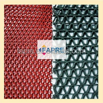 S type gang ondoordringbaar waterdichte pvc gangpad tapijt matten mesh plastic pvc matten - Corridor tapijt ...