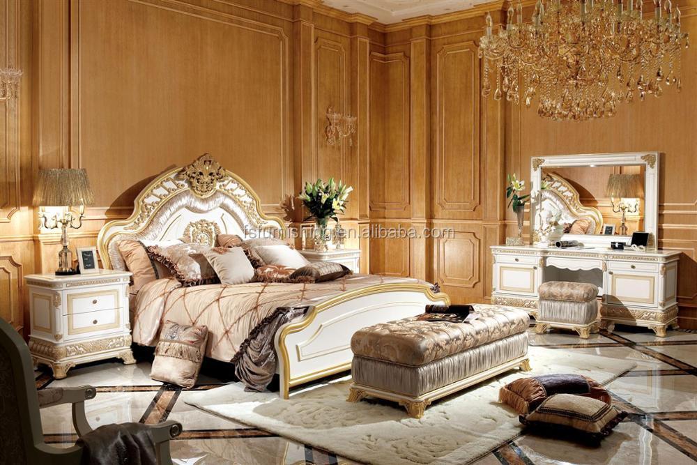Slaapkamer Franse Vertaling : Yb62 franse barok ontwerp slaapkamer meubels antieke hoogglans wit