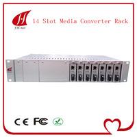 14 Slots Fiber Ethernet Media Converter Rack