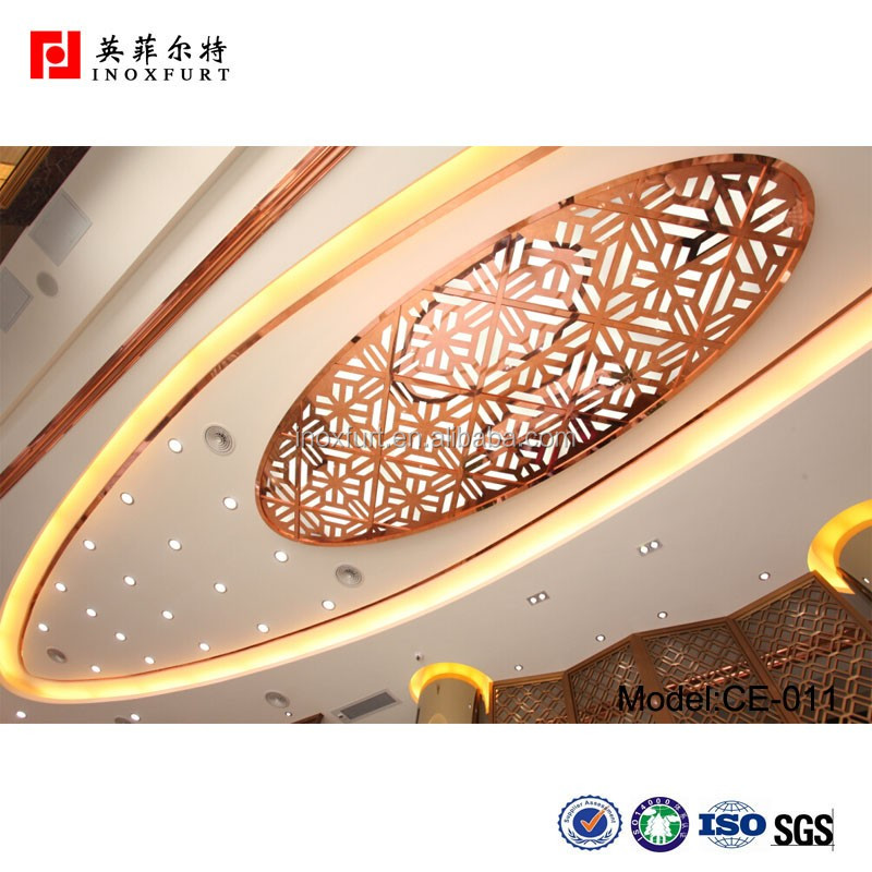 China Supplier Pop Malaysia Stainless Steel Ceiling Design