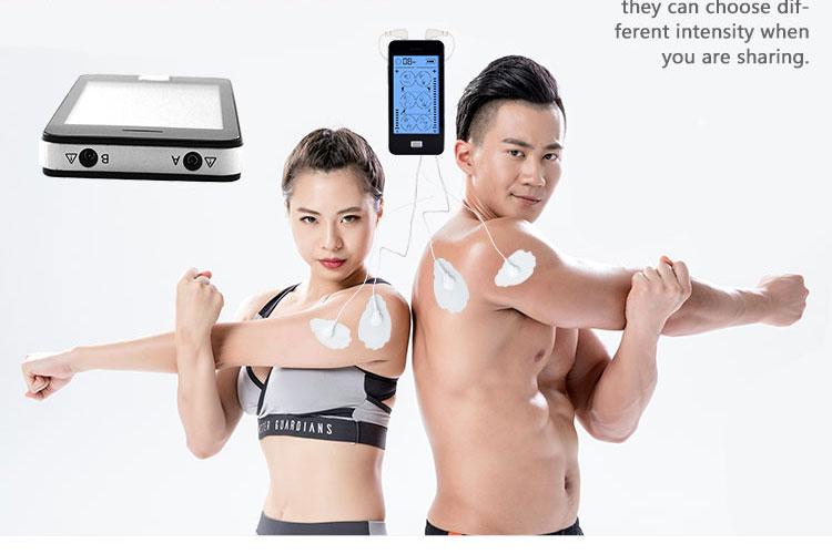 4 pairesボディポータブル十鍼スマートデジタル療法機械電子痩身パルスマッサージ