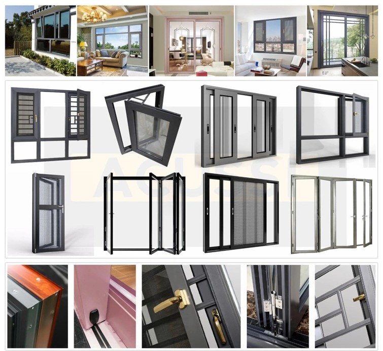 high security soundproof glass casement aluminium window