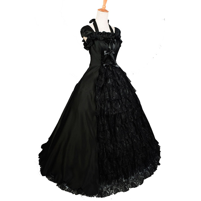 Get Quotations · gothic lolita victorian dress Southern bell costume Ball Gown Halloween costumes for women adult black Evening  sc 1 st  Alibaba : black princess costume  - Germanpascual.Com