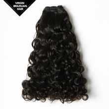 5A Top Grade Natural Color Double Drawn Tangel Free Curly Human Hair Weft Brazilian Hair Bundles