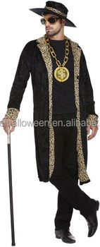 70s big daddy pimp adult costumes rapper gangster fancy dress mens outfit suit with hat AGM2585  sc 1 st  Alibaba : pimp costumes for mens  - Germanpascual.Com