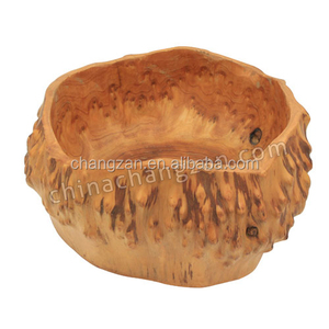 New Naturally Durable and Antique Wood Carved Root Bowl