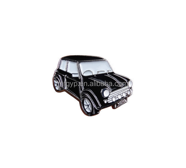 Emaille mini auto vorm revers pin