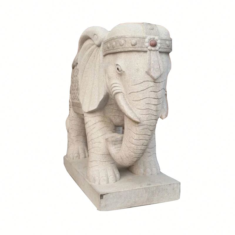 Iso9001 Quality Ensure China Garden Animal Marble Elephant Statue