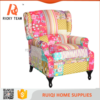 High Quality Cheap Patchwork Chair Fabric Floral Living Room ...