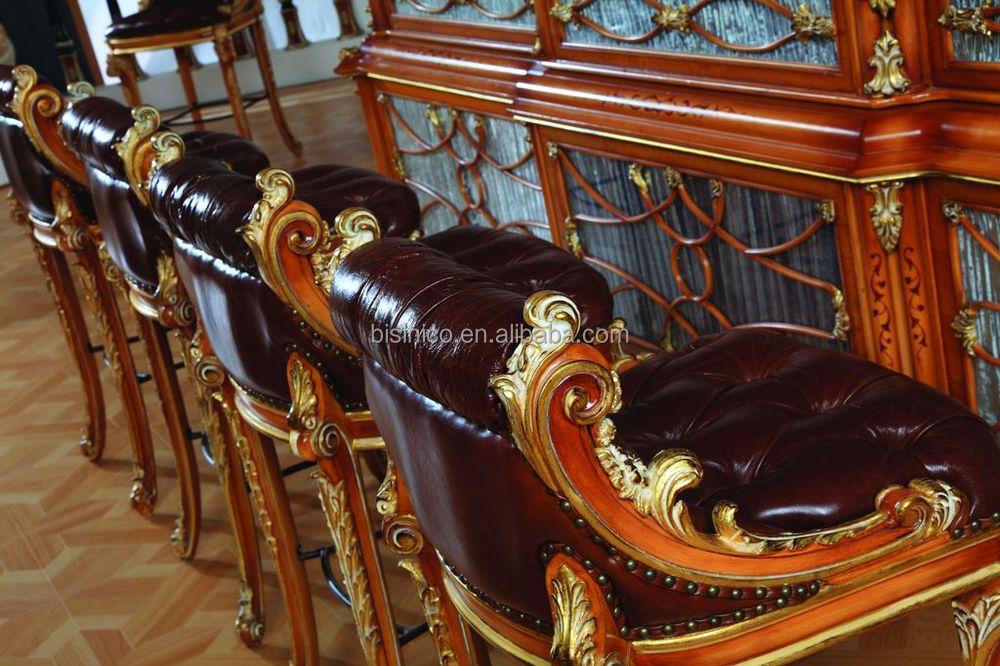In stile lusso francese in stile barocco home sgabello da bar antico