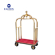 Bellman birdcage used hotel luggage carts,hotel stainless steel lobby luggage cart wheels
