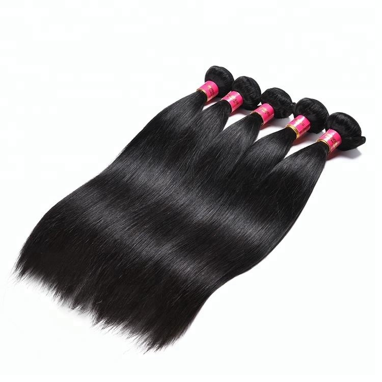 Brazilian Virgin Hair Straight Hair Products 4 Bundles with Frontal Hair Products with Clsorue Bundle